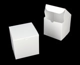 "3861 - 6"" x 6"" x 6"" White/White without Window, Lock & Tab Box with Lid"