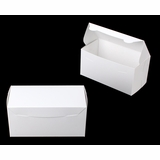 "3862 - 8"" x 4"" x 4"" White/White Lock & Tab Box without Window"
