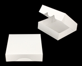 "3869 - 9"" x 9"" x 2 1/2"" White/White Timesaver Box without window. A23"