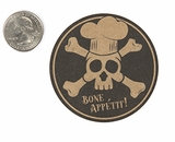 "3900 - 2 1/2"" Halloween Bone App�tit, Favor Label, on Kraft, 50 Count. F01"