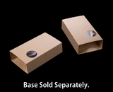 "3915 - 7 1/2"" x 4 1/4"" x 2"" Brown/Brown Macaron Box Sleeve Only, with Window"