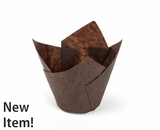 "3926 - Chocolate Brown Tulip Cupcake Liner 2"" x 3 1/2""- 1000ct. C05"
