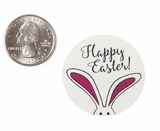 "3940 - 1 1/2"" Easter Bunny Ears, Favor Label, on White, 50 Count"