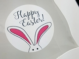 """3940 - 1 1/2"""" Easter Bunny Ears, Favor Label, on White, 50 Count"""