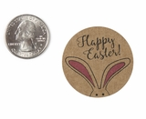 "3942 - 1 1/2"" Easter Bunny Ears, Favor Label, on Kraft, 50 Count. F01"