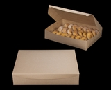 "3958 - 19"" x 14"" x 4"" Brown/Brown without Window, One Piece Lock & Tab Box with Lid, 50 COUNT"