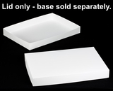 "396 - 26"" x 18"" x 3"" White/White Lock & Tab Box Lid Only, without Window"