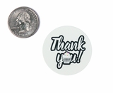 "3968 - 1 1/2"" Thank You Sprinkles, Favor Label, on White, 50 Count. F01"