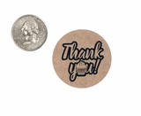 "3969 - 1 1/2"" Thank You Sprinkles, Favor Label, on Kraft, 50 Count"