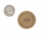 "3975 - 1 1/2"" Pecan Flavor Label, 50 Count. F01"