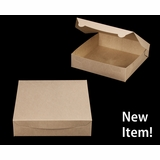 "3981 - 10"" x 10"" x 2 1/2"" Brown/Brown without Window, Lock & Tab Box with Lid"