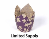 "3986 - Fall Plum Leaf Print Cupcake Liner 2"" x 3 1/2""- 125ct"