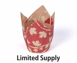 "3987 - Fall Red Leaf Print Cupcake Liner 2"" x 3 1/2""- 125ct"