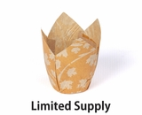 "3988 - Fall Pumpkin Leaf Print Cupcake Liner 2"" x 3 1/2""- 125ct"