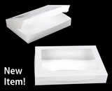 "3998 - 16"" x 11 1/2"" x 2 1/2"" White/White Lock & Tab Pastry with Window"
