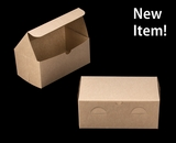 """4004 - 9"""" x 5"""" x 4"""" Brown/Brown without Window, Lock & Tab Box with Lid"""