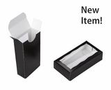 "4029 - 4 5/16"" x 2 1/4"" x 1"" Black/White, Double Favor Box with window"