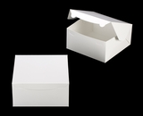 "543 - 10"" x 10"" x 5"" White/White without Window, Lock & Tab Box With Lid. A33"