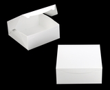 "554 - 12"" x 12"" x 5"" White/White Lock & Tab Box without Window"