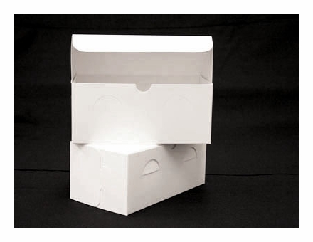 742 9 x 5 x 4 white white without window lock tab box with lid