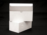 "742 - 9"" x 5"" x 4"" White/White without Window, Lock & Tab Box With Lid. A18"