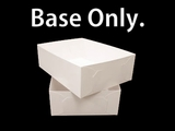 "743 - 19"" x 14"" x 6"" White/White Lock & Tab Half Sheet Cake Box, Base Only, 50 COUNT"