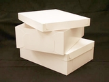 "743x397 - 19"" x 14"" x 6""  White/White Lock & Tab Box Set without Window, 50 COUNT. A25xA14"