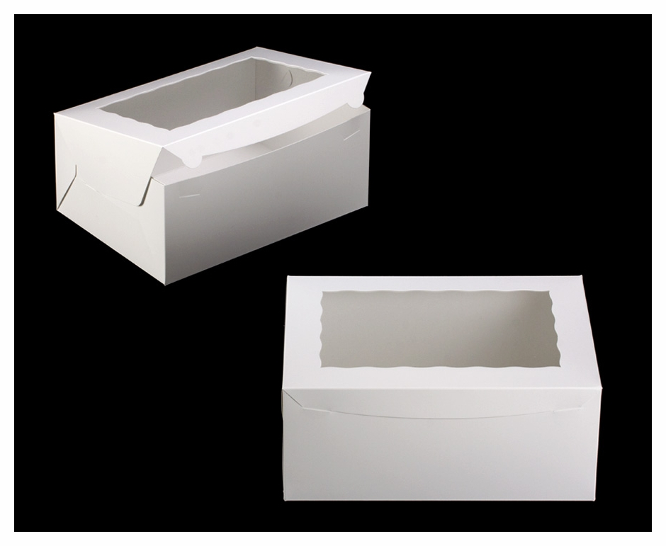 750 14 x 10 x 6 white white lock tab box with for 14 x 21 window