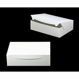 "752 - 14"" x 10"" x 4"" White/White without Window, Lock & Tab Box With Lid"