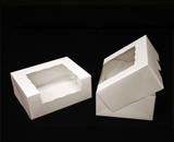 """930 - 9"""" x 7"""" x 3 1/2"""" White/White with Window, Timesaver Box With Lid. A19"""