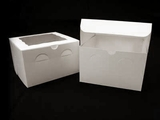 "932 - 8"" x 8"" x 5"" White/White with Window, Lock & Tab Box With Lid. A24"