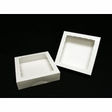 "947 - 10"" x 10"" x 2 1/2"" White/White Timesaver Box with Window"