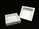 "947 - 10"" x 10"" x 2 1/2"" White/White Timesaver Cookie Box with Window"