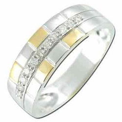 0.3 Carat Diamond 14K White Gold MEN Rings 4.22g - Ring Size: 10 (Sizable)