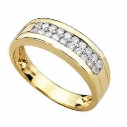 0.45 Carat Diamond 14K TWO TONE Gold MEN Rings 5.04g - Ring Size: 10 (Sizable)