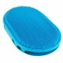 1 Pcs Pet Bath Accessories Cats& Dogs Bath Brush Massage Comb Gloves Blue