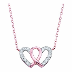 10k Rose Gold 0.10Ctw Diamond Fashion Necklace
