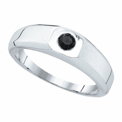 10k White Gold 0.33Ctw Diamond Fashion Mens Ring - Ring