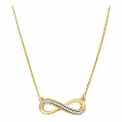 10k Yellow Gold 0.07Ctw-Dia Fashion Necklace