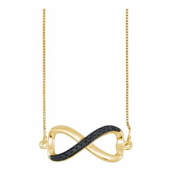 10k Yellow Gold 0.10Ctw-Dia Fashion Necklace
