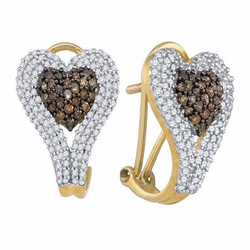 10k Yellow Gold 1.39Ct Diamond Micro Pave Earrings - Earrings