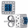 10KT White Gold 0.18CTW BLUE DIAMOND FASHION EARRINGS - Earrings