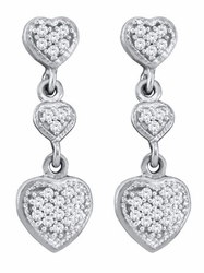 10KT White Gold 0.25CTW DIAMOND FASHION EARRINGS - Earrings