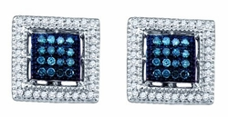 10KT White Gold 0.44CTW DIAMOND FASHION EARRINGS - Earrings