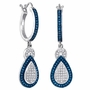 10KT White Gold 0.51CTW BLUE DIAMOND FASHION EARRINGS - Earrings