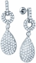 10KT White Gold 2.00CTW DIAMOND FASHION EARRINGS - Earrings