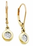 10KT Yellow Gold 0.04CTW DIAMOND LADIES  FASHION EARRINGS - Earrings