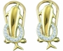 10KT Yellow Gold 0.08CTW DIAMOND MICRO PAVE EARRINGS - Earrings