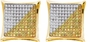10KT Yellow Gold 0.10CTW ROUND DIAMOND LADIES MICRO PAVE FASHION EARRINGS - Earrings