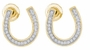 10KT Yellow Gold 0.15CTW DIAMOND LADIES HORSE SHOE  EARRINGS - Earrings